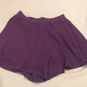 Dark purple dress shorts